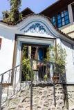 PLOWDIW, BULGARIEN - 10. JUNI 2017: Haus vom Zeitraum der bulgarischen Wiederbelebung in der alten Stadt von Plowdiw Lizenzfreie Stockfotografie