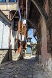 PLOWDIW, BULGARIEN - 10. JUNI 2017: Haus vom Zeitraum der bulgarischen Wiederbelebung in der alten Stadt von Plowdiw Lizenzfreie Stockfotos