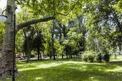 PLOWDIW, BULGARIEN - 10. JUNI 2017: Panorama des Zars Simeon Garden in der Stadt von Plowdiw, Lizenzfreie Stockfotografie