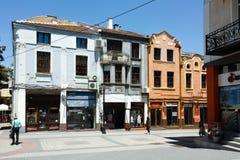 PLOWDIW, BULGARIEN - 10. JUNI 2017: Straße im Bezirk Kapana, Stadt von Plowdiw, Stockbilder