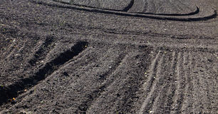 Plowed agricultural field Royalty Free Stock Photography