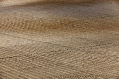 Plowed agricultural land. Plowed and ready for sowing agricultural fields. close-up Stock Photography