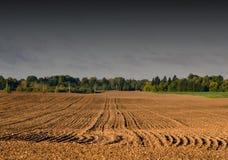 Plowed autumn farm field landscape Stock Photo