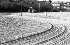 Plowed beach. Royalty Free Stock Photo