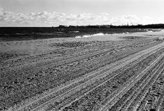 Plowed beach. Royalty Free Stock Image
