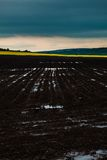Plowed black earth Stock Image
