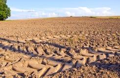 Plowed farmland field landscape Royalty Free Stock Images
