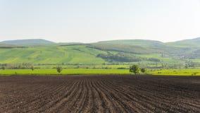Plowed farmlands, arable fields. Landscape Stock Photography