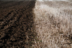 A plowed field Royalty Free Stock Images
