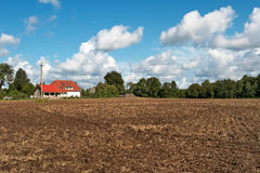 Plowed field Stock Image