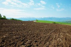 The plowed field Royalty Free Stock Photos
