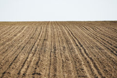 Plowed field Stock Photos