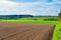 Plowed Field. Spring Plowed Field- Belgian Landscape Stock Images