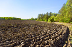 The plowed field Royalty Free Stock Image