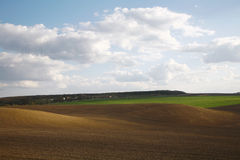 Plowed field. In a countryside Stock Image