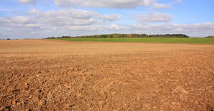 Plowed field in Aisne Royalty Free Stock Photos