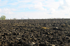 Plowed field on autumn Royalty Free Stock Photography