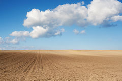 Plowed field Royalty Free Stock Photography