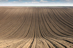 Plowed field  country landscape Royalty Free Stock Photos