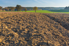 Plowed field landscape Stock Photography