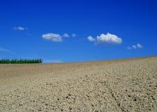 Plowed field in Monferrato. Region, Italy Stock Photos
