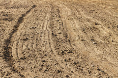 Plowed field in spring. Royalty Free Stock Image