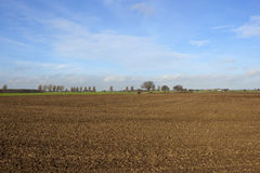 Plowed field in yorkshire Royalty Free Stock Photography