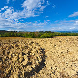 Plowed Fields in the Autumn Stock Photos