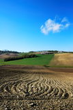 Plowed fields and lines Stock Images