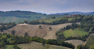 Plowed fields in rolling hills Royalty Free Stock Image
