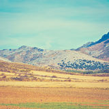 Plowed Hills Royalty Free Stock Photos