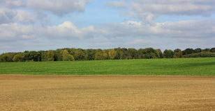 Plowed land in the aisne Royalty Free Stock Images