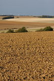 Plowed land in the aisne Royalty Free Stock Photography