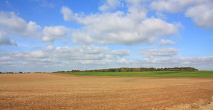 Plowed land in the aisne Stock Photo