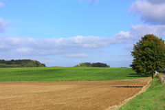 Plowed land in the aisne Stock Images
