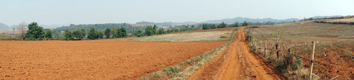 Plowed land Royalty Free Stock Images