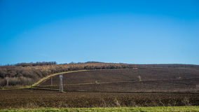 Plowed land prepared for new crops. Bulgaria Royalty Free Stock Photos