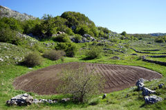 Plowed land Stock Image