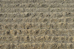 Plowed soil Stock Images