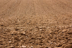 Plowed soil. An agricultural field with plowed soil Royalty Free Stock Image