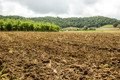 Plowed soil of an agricultural field Stock Photo