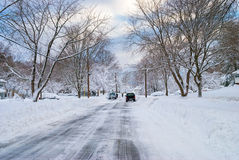 Plowed Street Stock Images