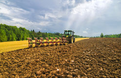 Plowing Royalty Free Stock Photos