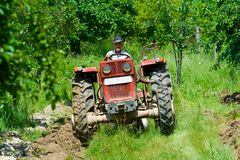 Plowing Royalty Free Stock Photo