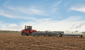 Plowing A Farm Field Stock Image