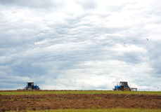 Plowing agricultural field Royalty Free Stock Photo