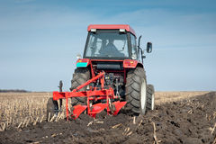 Plowing in Autumn Stock Photo