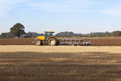 Plowing autumn stubble 2 Royalty Free Stock Photo