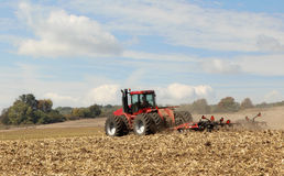 Plowing Corn Field Stock Photography