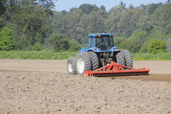 Plowing the Cornfield Royalty Free Stock Photography